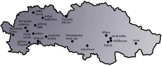 Mapa - Prešovský kraj