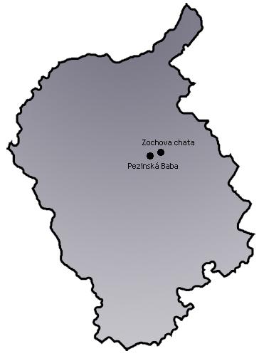 Mapa - bratislavský kraj
