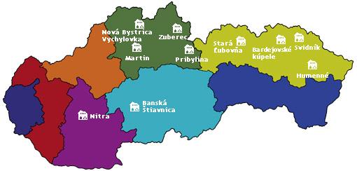 Mapa - Skanzeny